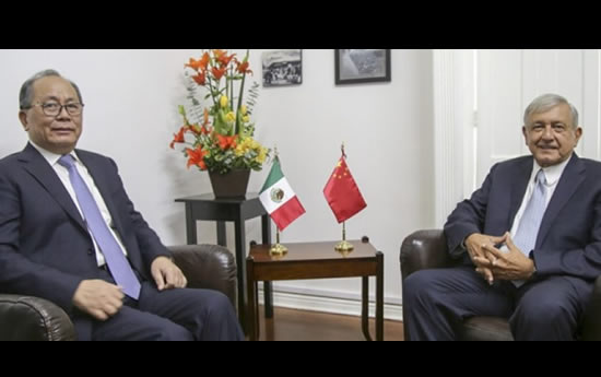 López Obrador conversará con embajador de China sobre comercio y cultura