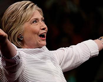 """Hillary Clinton tras ganar la nominación demócrata: """"No hay límites para nadie""""."""