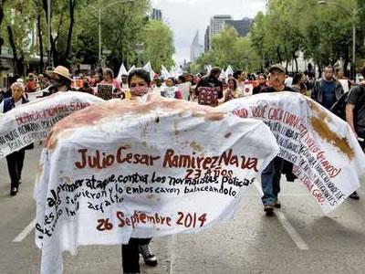 Protestas en México cuando se cumplen dos años del caso Ayotzinapa