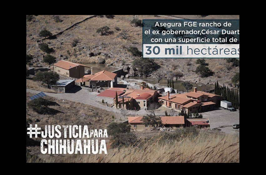 Aseguran rancho de 30 mil hectáreas de César Duarte